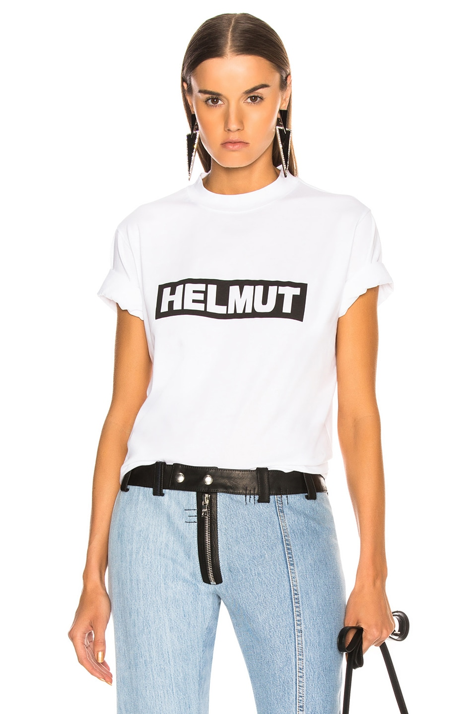 Image 1 of Helmut Lang Logo Tall Tee in White