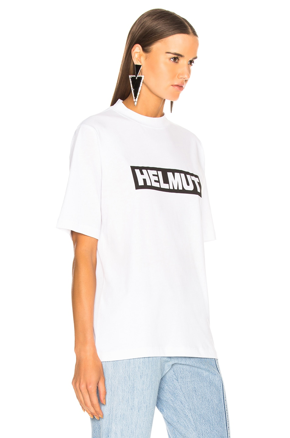 Image 2 of Helmut Lang Logo Tall Tee in White