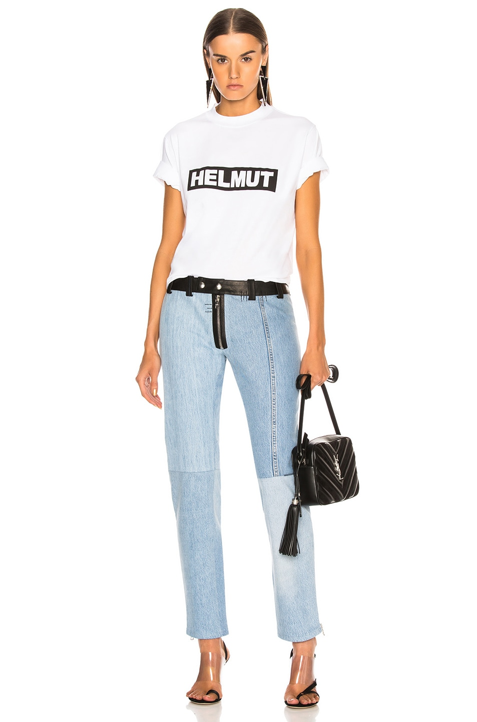 Image 4 of Helmut Lang Logo Tall Tee in White