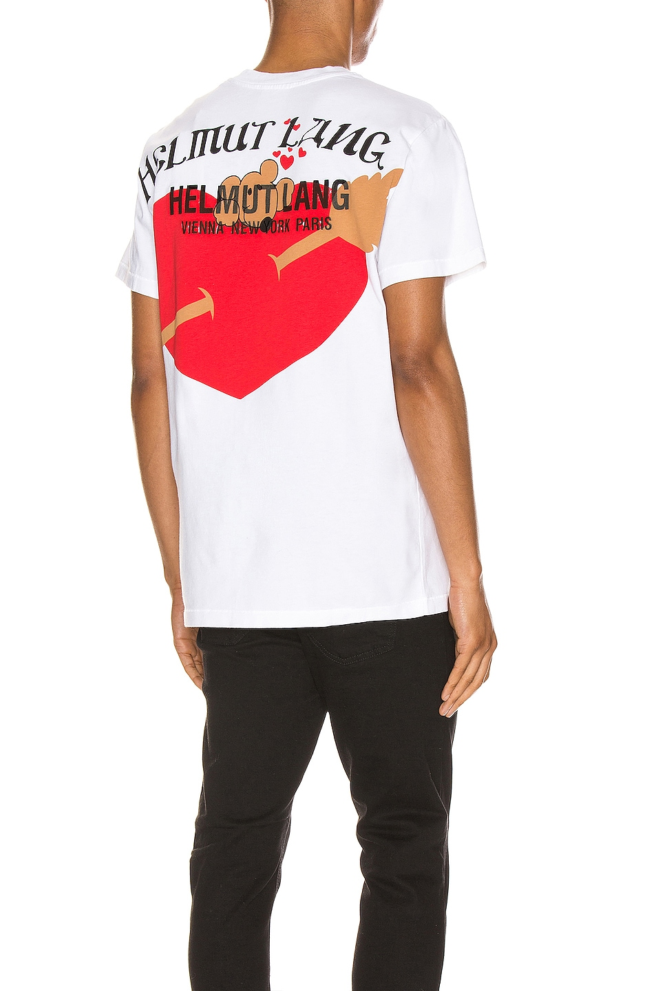 Image 1 of Helmut Lang PZ Valentine Standard Tee in Chalk White