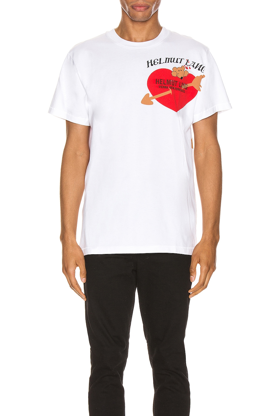 Image 2 of Helmut Lang PZ Valentine Standard Tee in Chalk White