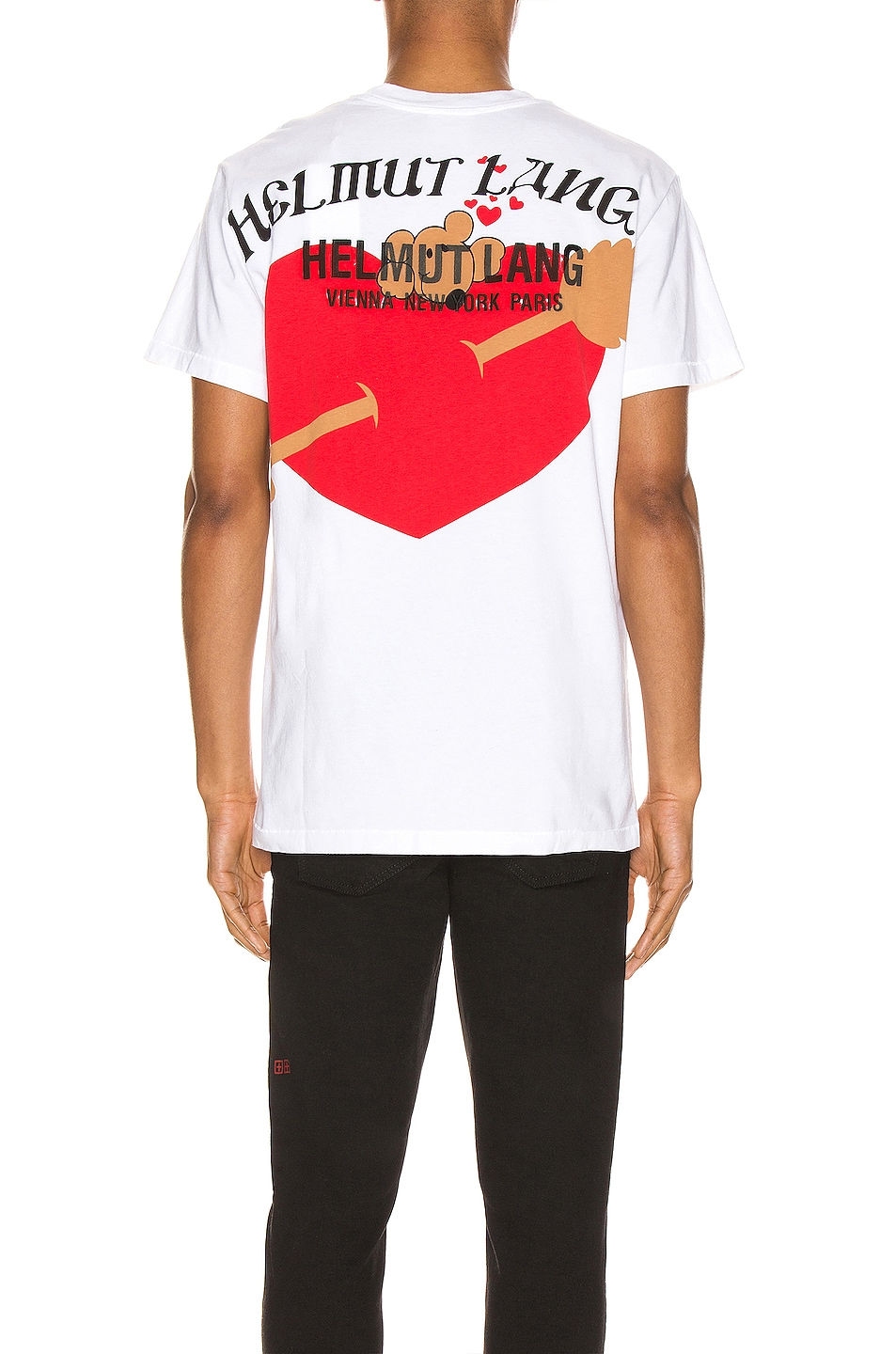 Image 4 of Helmut Lang PZ Valentine Standard Tee in Chalk White