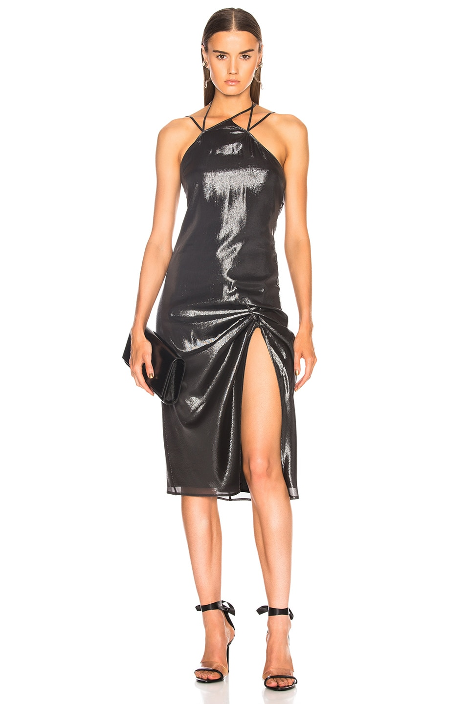 Helmut Lang x Shayne Oliver Pulled Slip Dress in Black