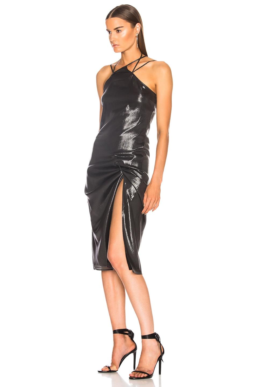 Image 3 of Helmut Lang x Shayne Oliver Pulled Slip Dress in Onyx