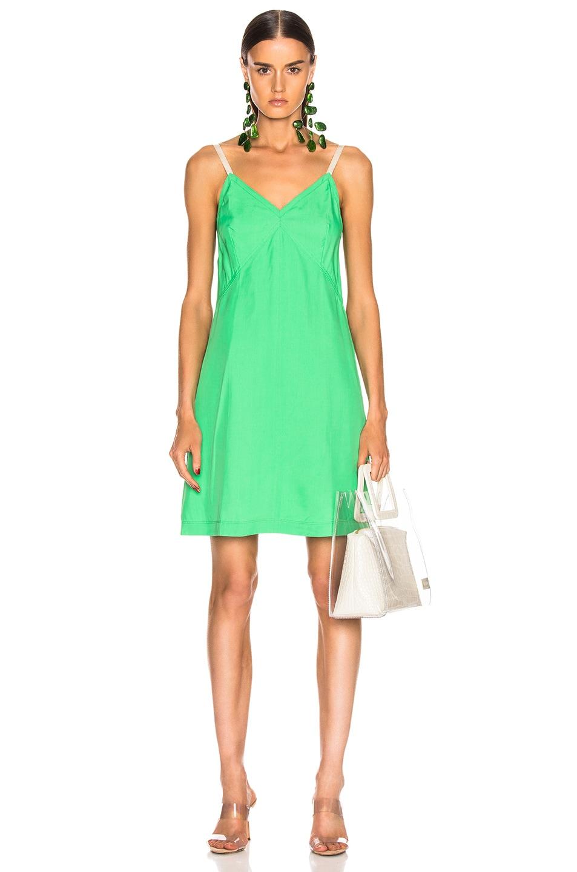 Image 1 of Helmut Lang Mini Slip Dress in Frog