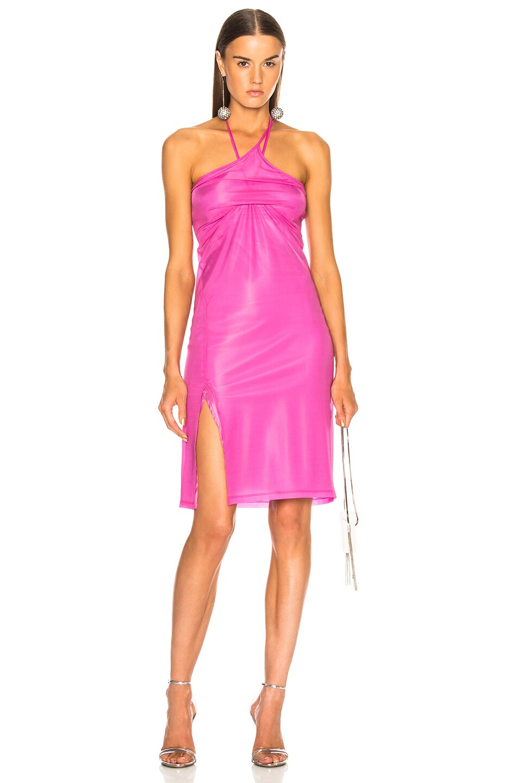 Image 1 of Helmut Lang x Shayne Oliver Pulled Slip Dress in Fuchsia