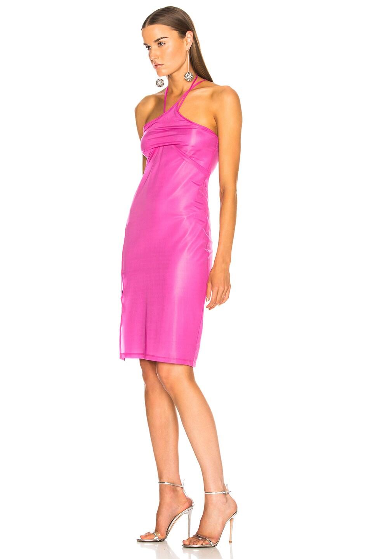 Image 3 of Helmut Lang x Shayne Oliver Pulled Slip Dress in Fuchsia