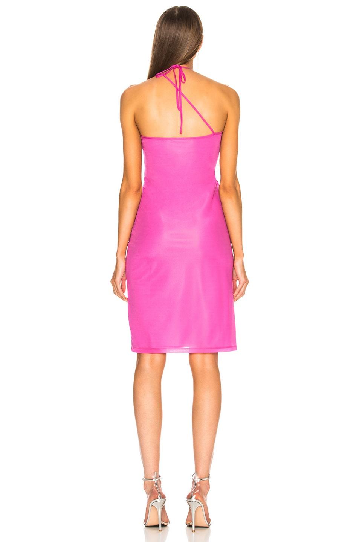 Image 4 of Helmut Lang x Shayne Oliver Pulled Slip Dress in Fuchsia