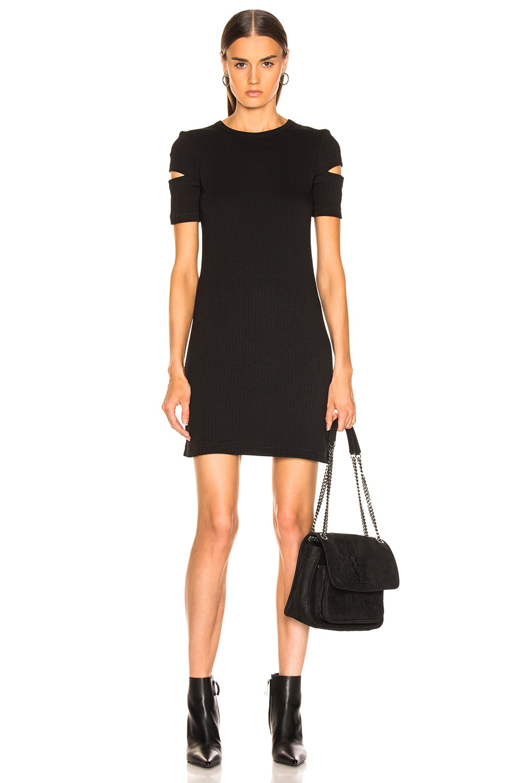 Image 1 of Helmut Lang Ribbed Dress in Black
