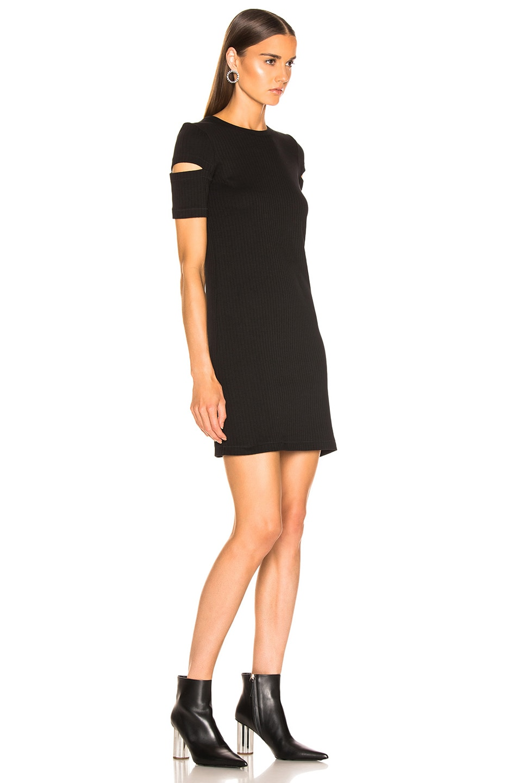 Image 2 of Helmut Lang Ribbed Dress in Black
