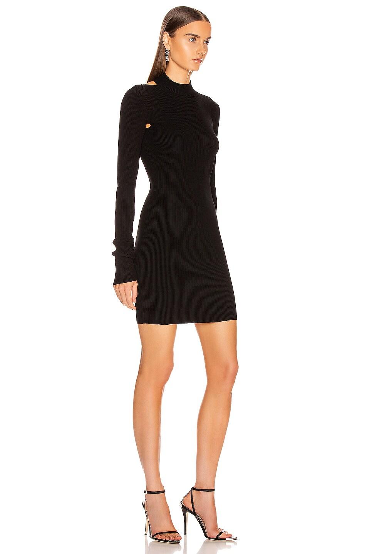 Image 2 of Helmut Lang Stretch Open Back Dress in Black