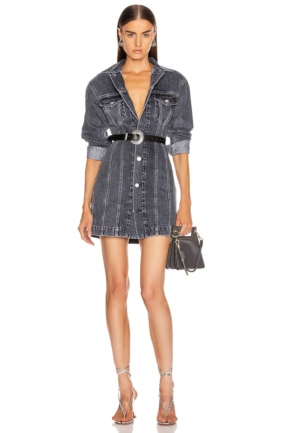 Image 1 of Helmut Lang Femme Mini Dress in Midnight Stone Universe