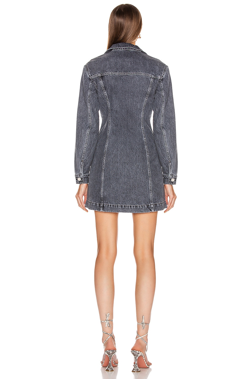 Image 3 of Helmut Lang Femme Mini Dress in Midnight Stone Universe