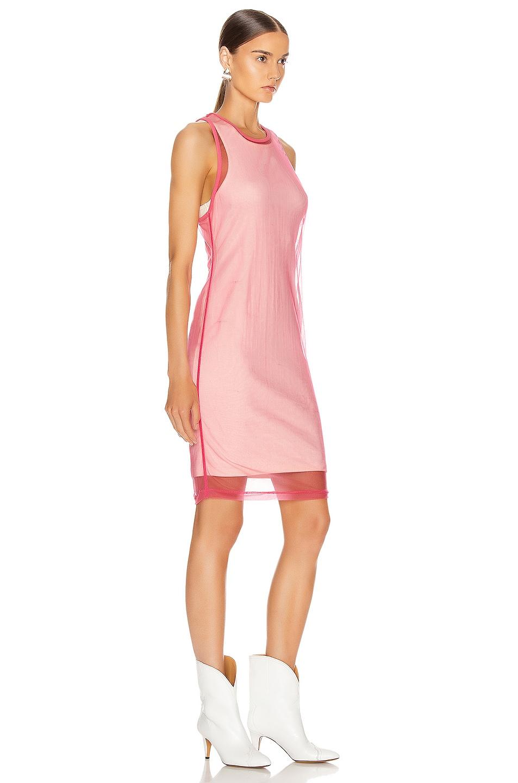 Image 2 of Helmut Lang Masc Tank Dress in Prism Pink