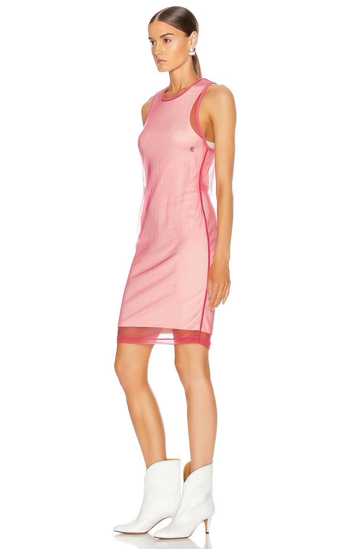 Image 3 of Helmut Lang Masc Tank Dress in Prism Pink