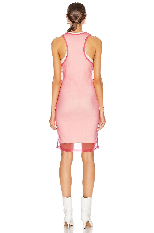 Image 4 of Helmut Lang Masc Tank Dress in Prism Pink