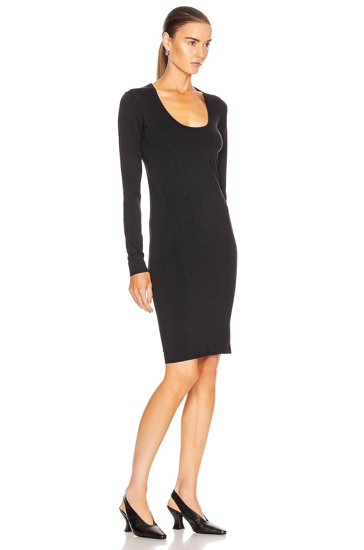 Image 2 of Helmut Lang Seamless Scoop Neck Dress in Black