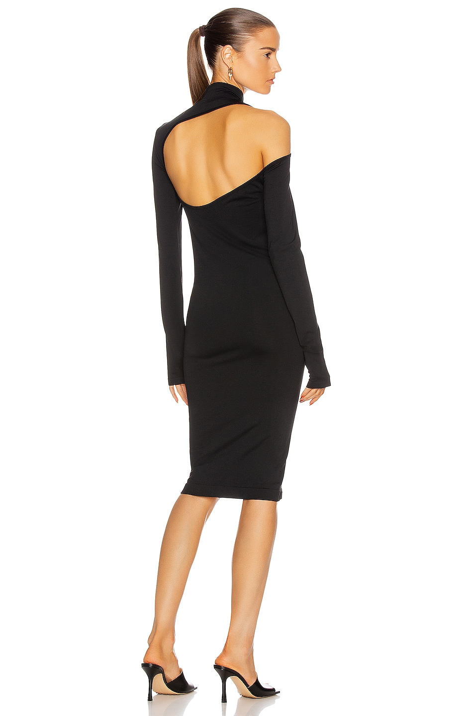 Image 1 of Helmut Lang Back Cutout Dress in Black