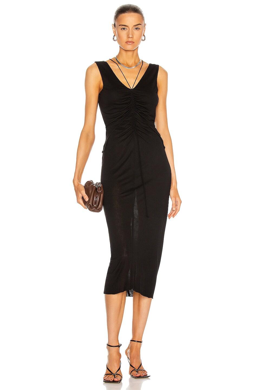 Image 1 of Helmut Lang Scala Dress in Basalt Black