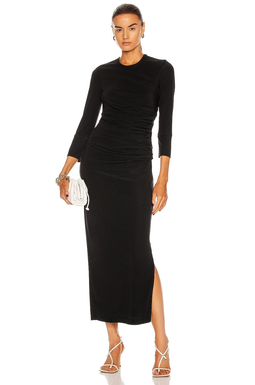 Image 1 of Helmut Lang Twist Dress in Basalt Black