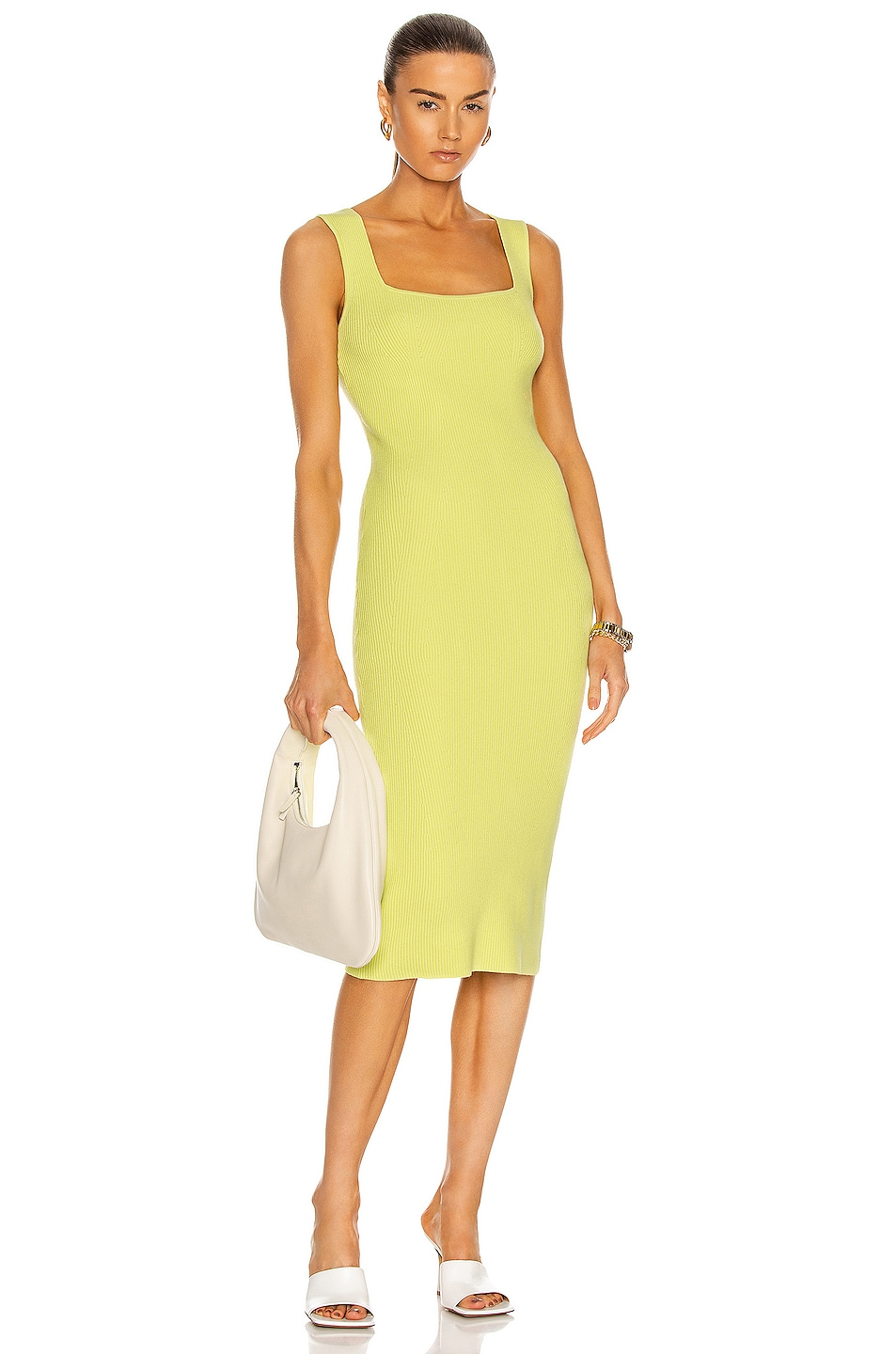 Image 1 of Helmut Lang Contour Dress in Electric Yellow