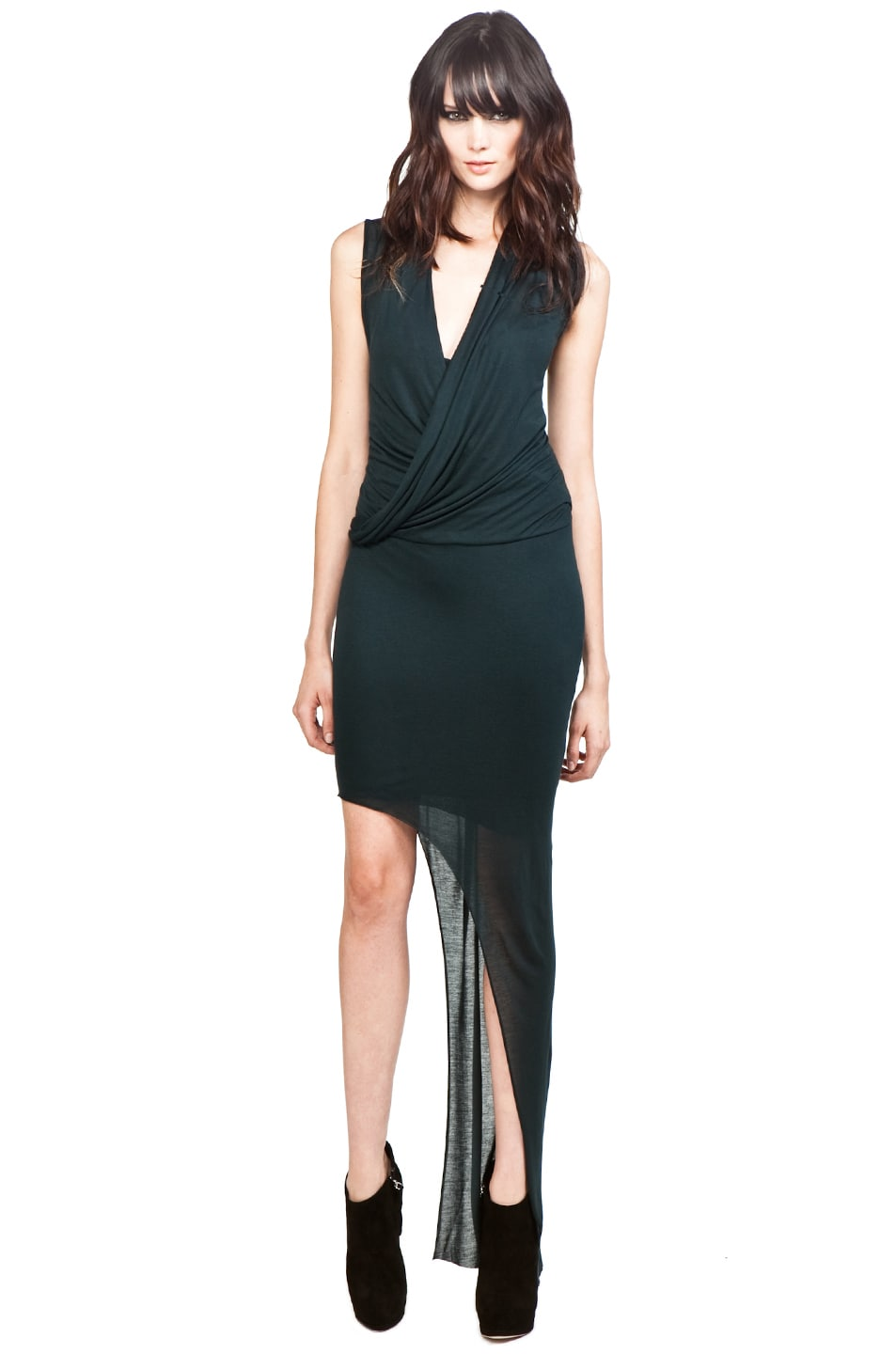Image 1 of Helmut Lang Long Dress in Thicket