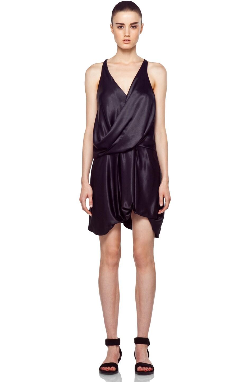 Image 1 of Helmut Lang Drop Hem Dress in Black