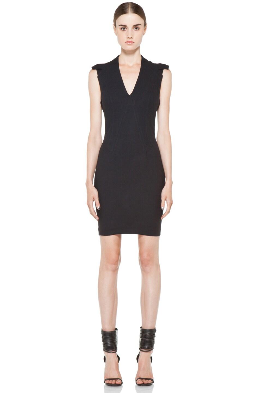 Image 1 of Helmut Lang Pixel Dress in Black