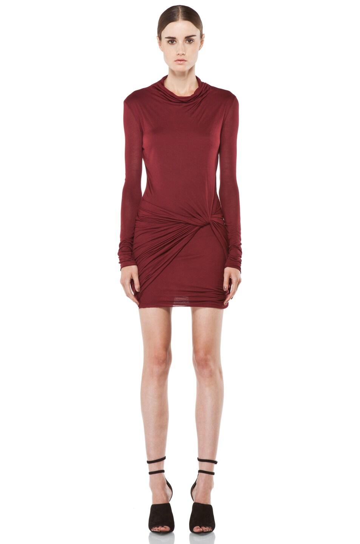 Image 1 of Helmut Lang Slack Jersey Long Sleeve Dress in Fever