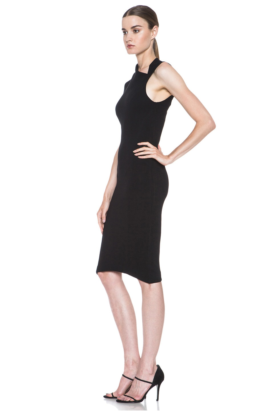 Image 2 of Helmut Lang Gala Body Contusion Dress in Black