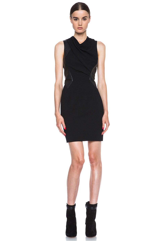 Image 1 of Helmut Lang Sphere Viscose Wool Dress in Black