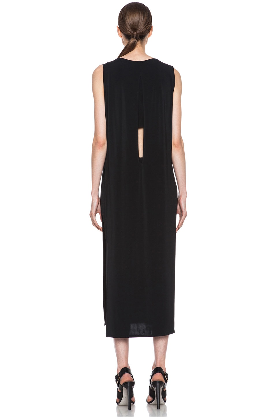 13b3ae388c39 Image 4 of Helmut Lang Faint High Slit Viscose-Blend Dress in Black
