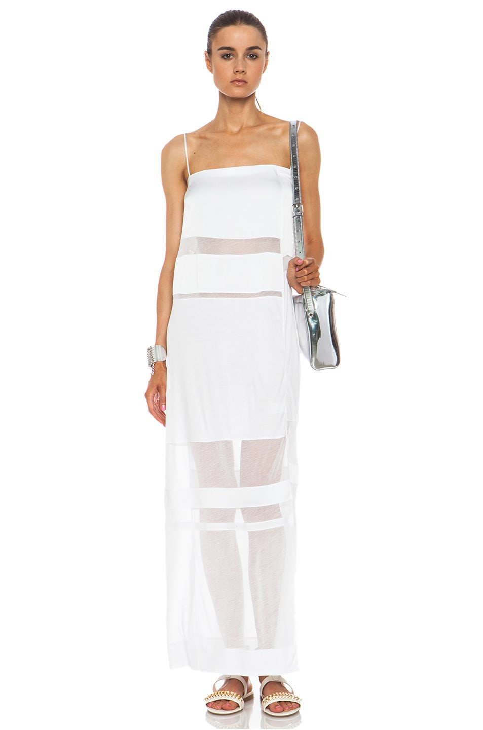 Image 1 of Helmut Lang Cotton Dress in Optic White