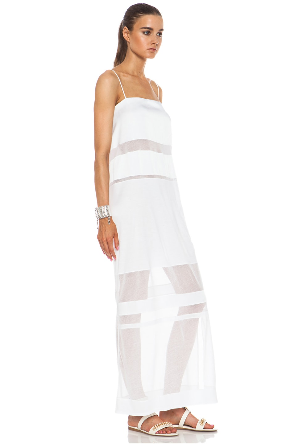 Image 3 of Helmut Lang Cotton Dress in Optic White
