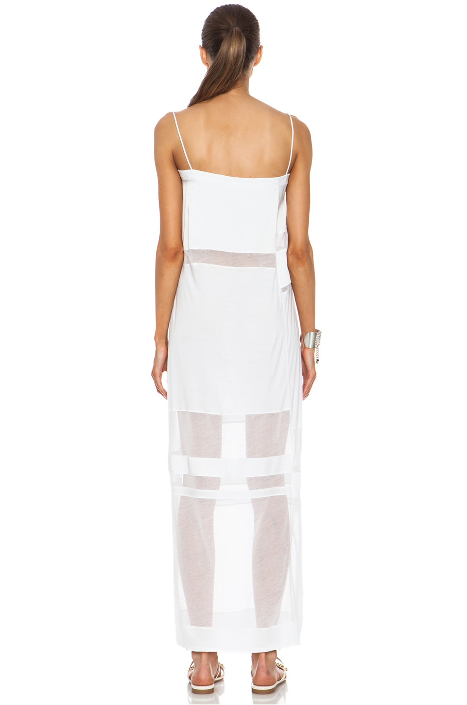 Image 4 of Helmut Lang Cotton Dress in Optic White