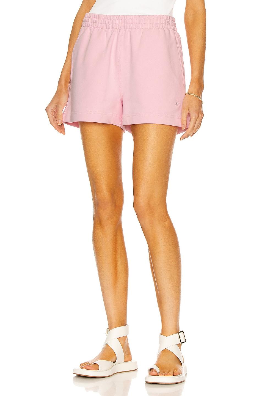 Image 1 of Helmut Lang High Sweatshort in Light Pink