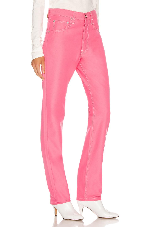 Image 2 of Helmut Lang Masc Hi Straight in Prism Pink