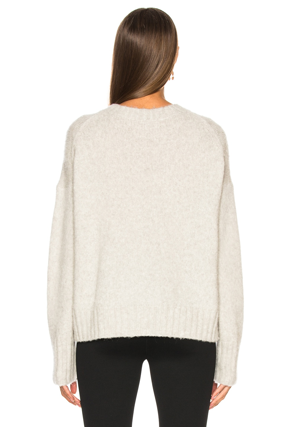 Image 3 of Helmut Lang Brushed Wool Crew Sweater in Ghost