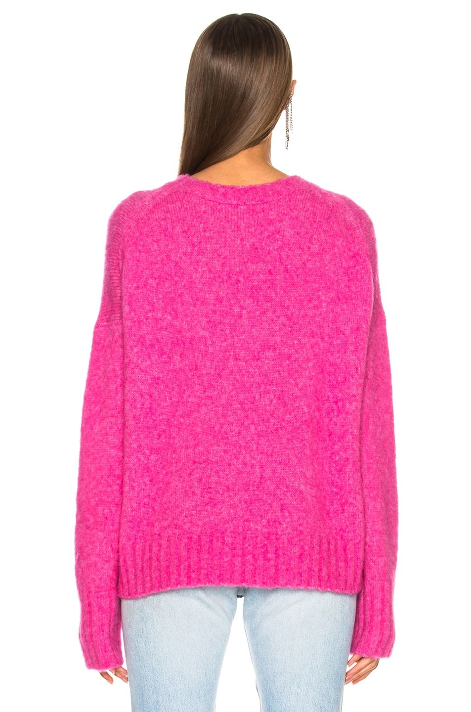5d13c031ee Image 3 of Helmut Lang Brushed Wool Crew Sweater in Gum