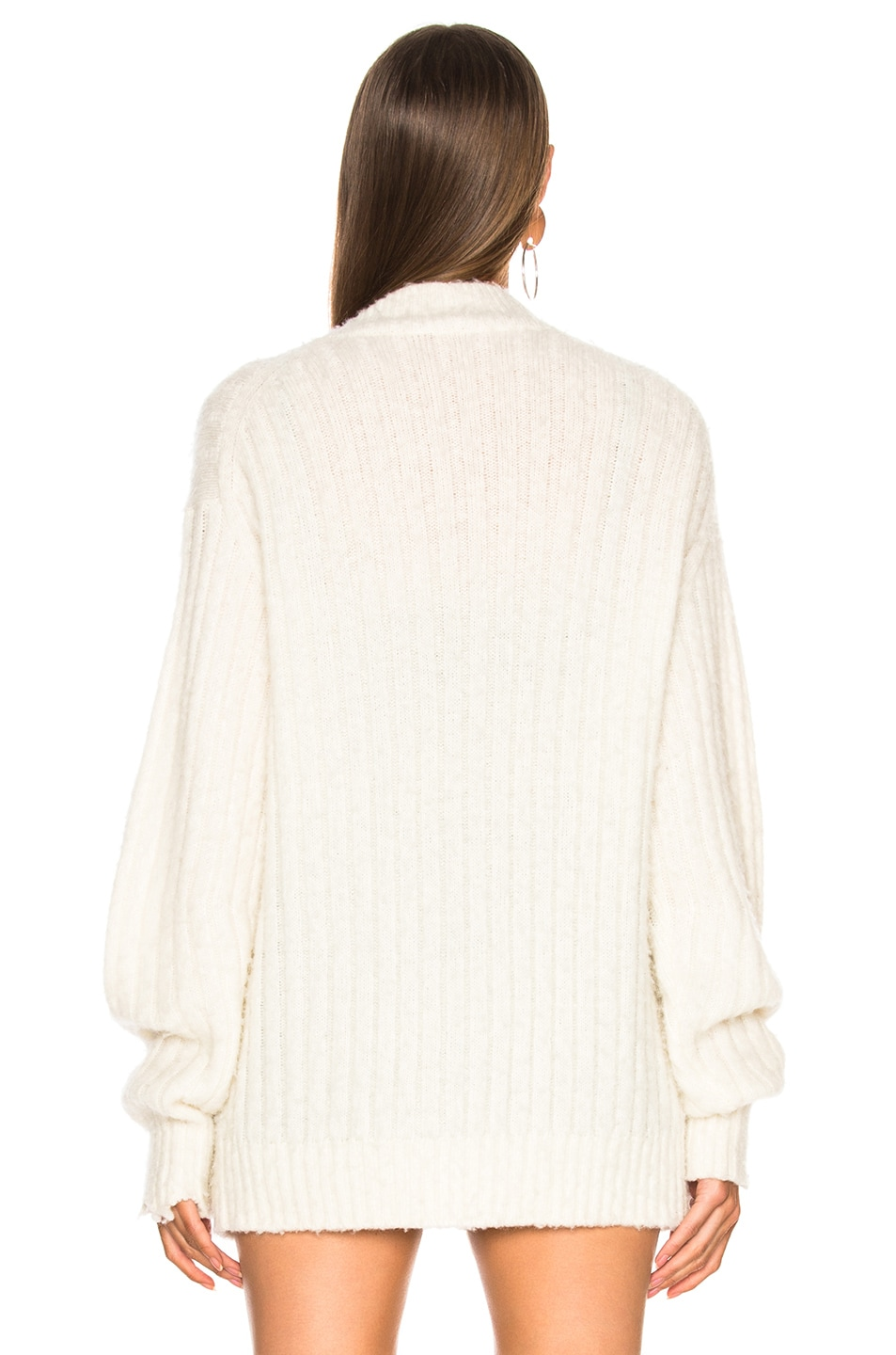 Image 4 of Helmut Lang Brushed Wool Cardigan in Ivory