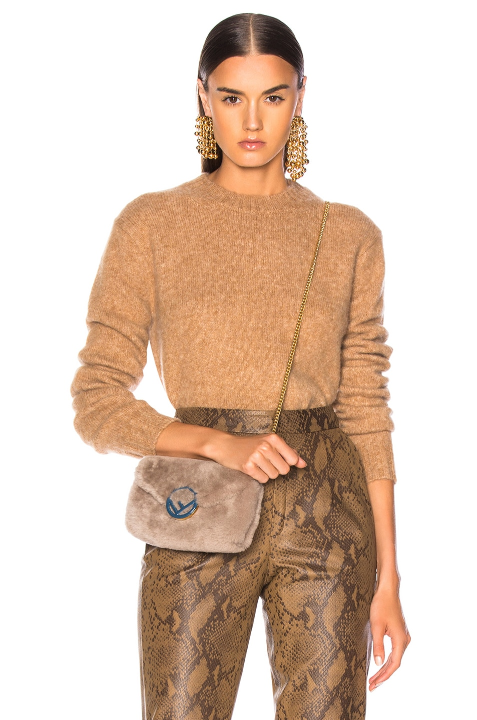 Image 1 of Helmut Lang Brushed Crew Neck Sweater in Band