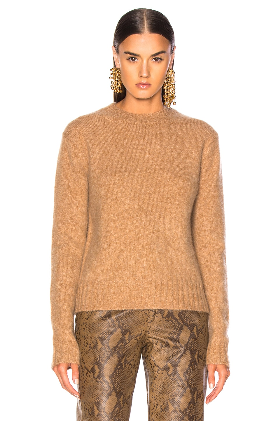 Image 2 of Helmut Lang Brushed Crew Neck Sweater in Band