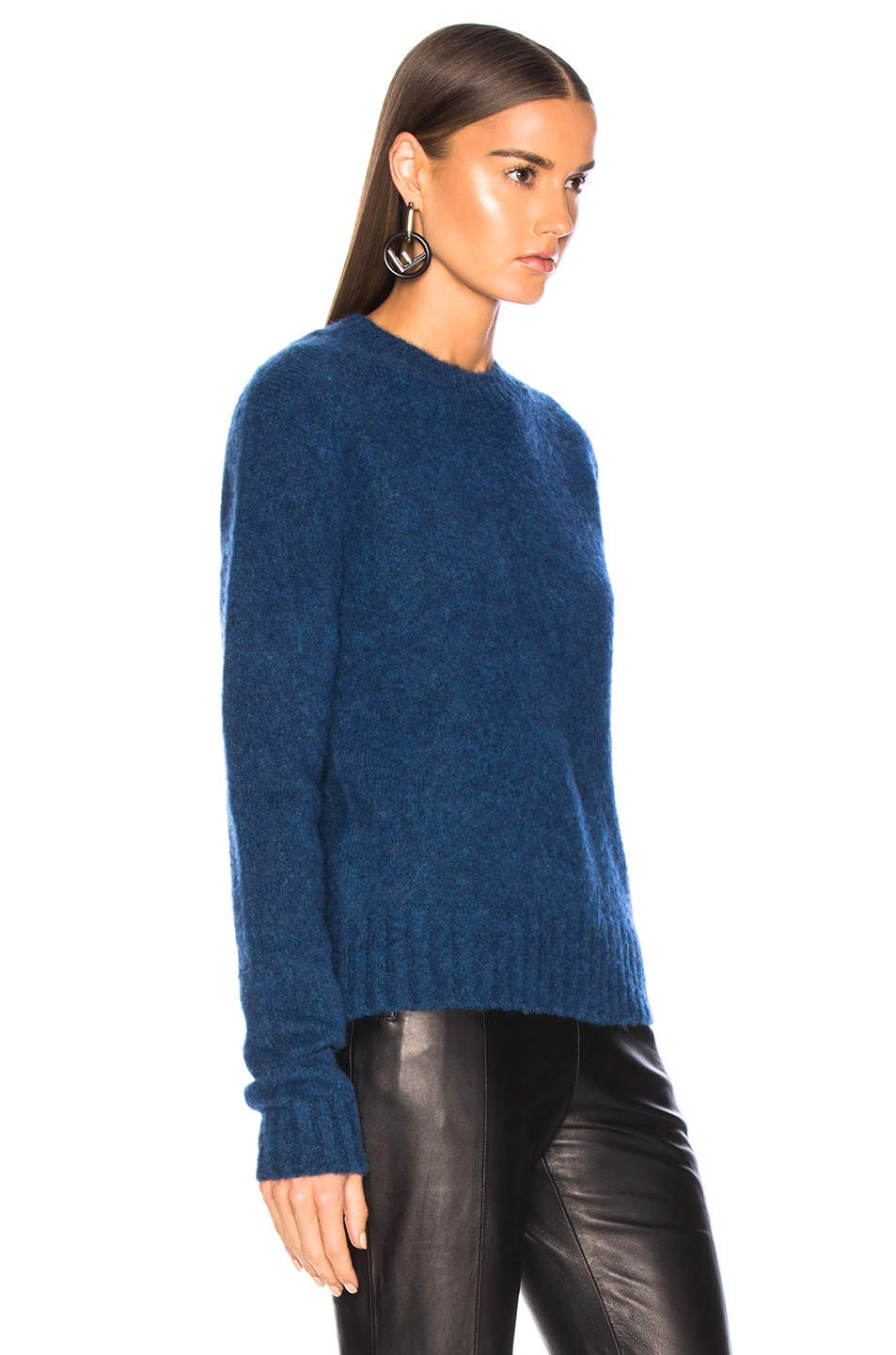 Image 3 of Helmut Lang Brushed Crew Neck Sweater in Lagoon