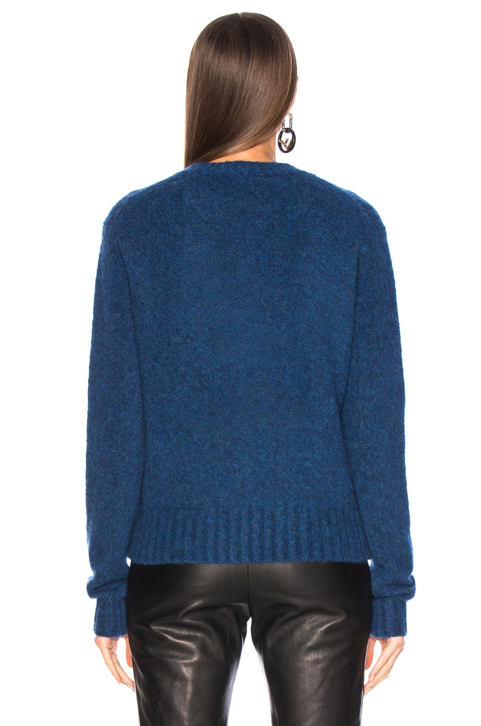 Image 4 of Helmut Lang Brushed Crew Neck Sweater in Lagoon