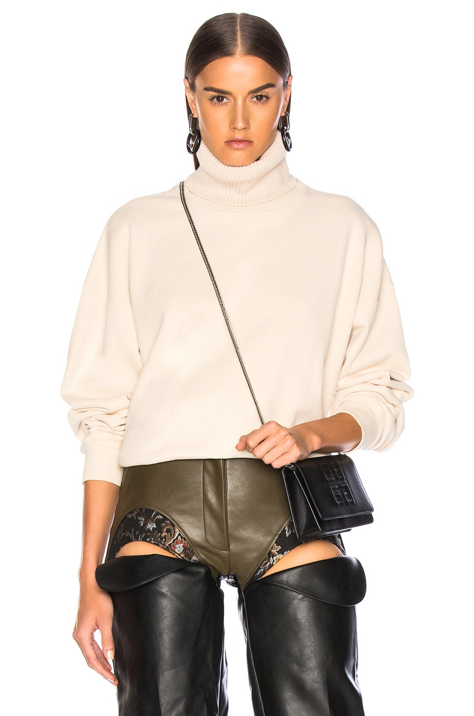 Image 1 of Helmut Lang Turtleneck Sweatshirt in Canvas
