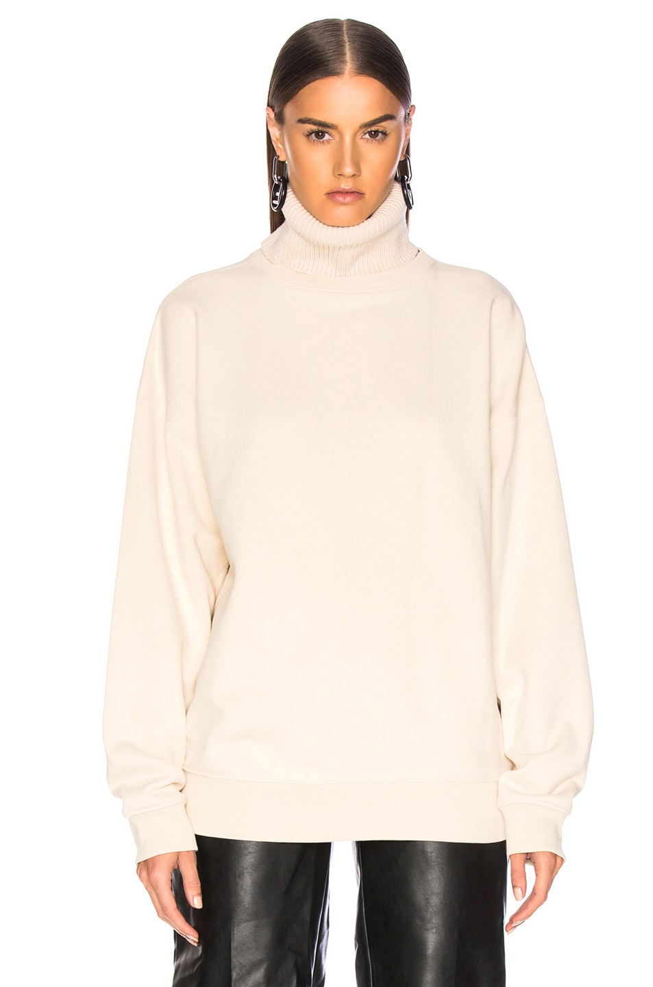 Image 2 of Helmut Lang Turtleneck Sweatshirt in Canvas