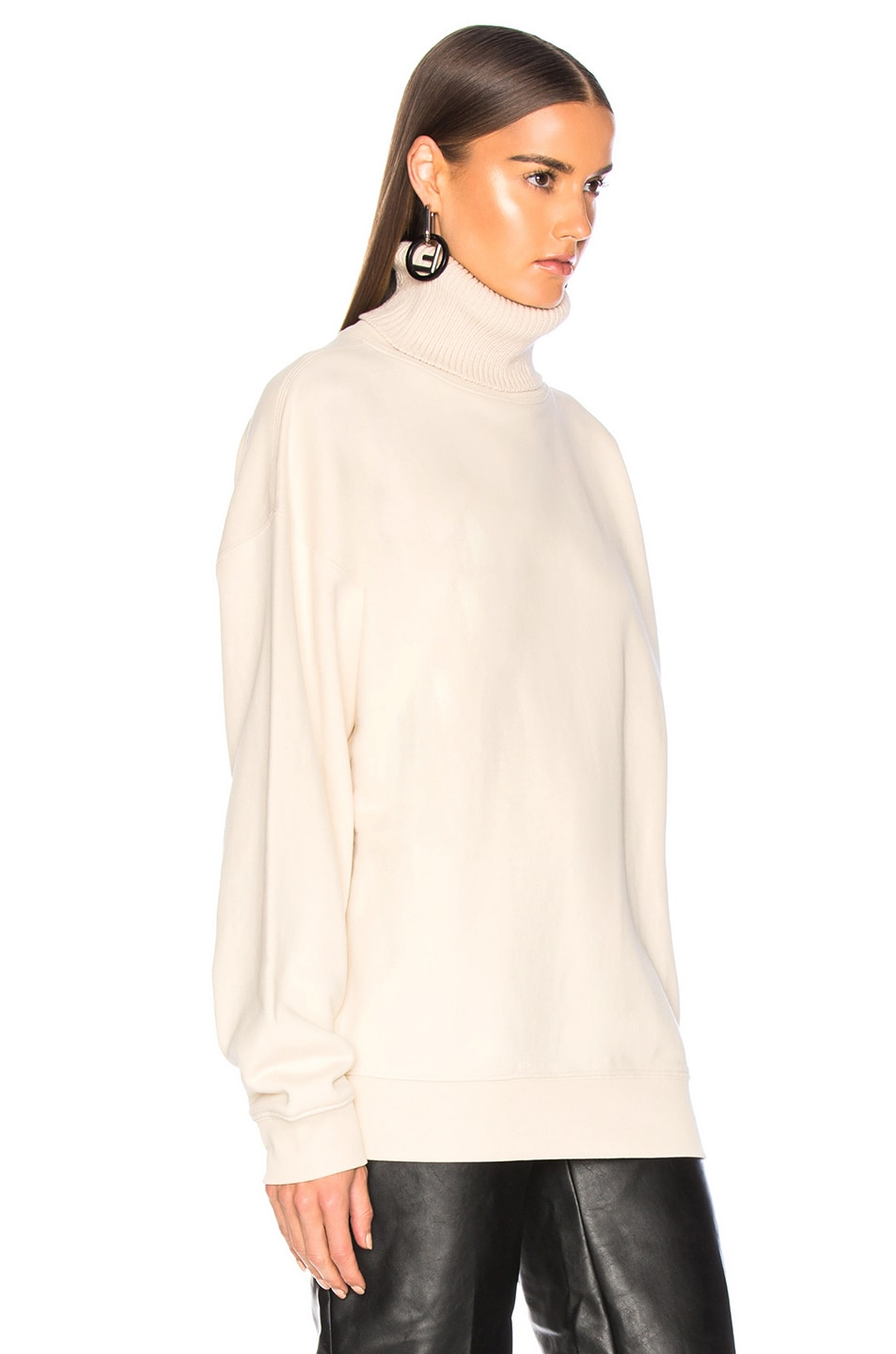 Image 3 of Helmut Lang Turtleneck Sweatshirt in Canvas