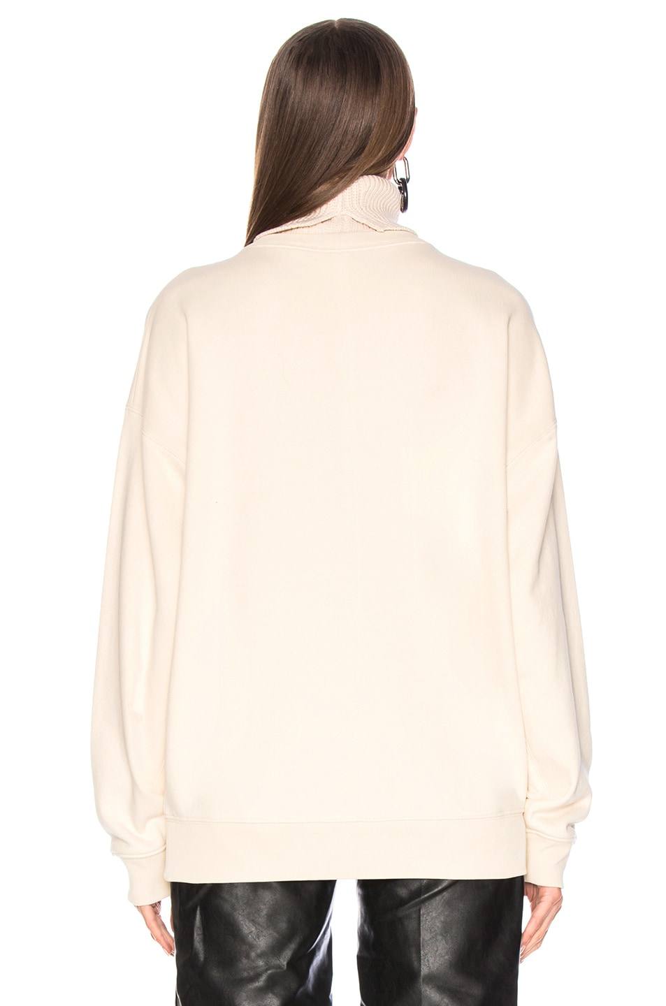 Image 4 of Helmut Lang Turtleneck Sweatshirt in Canvas