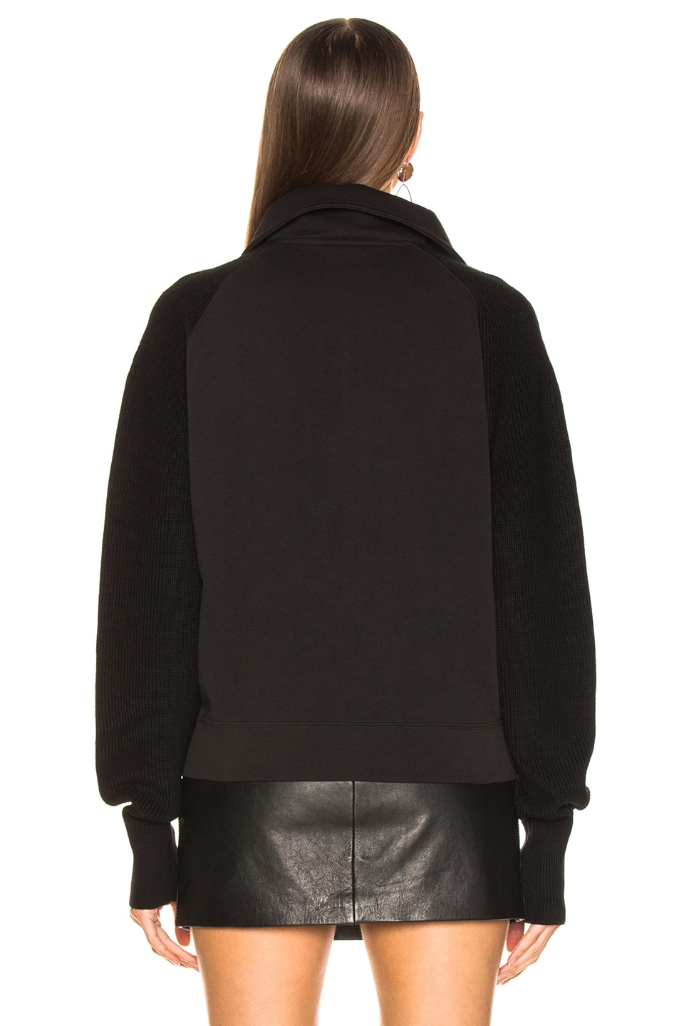 Image 3 of Helmut Lang Combo Zip Sweatshirt in Black