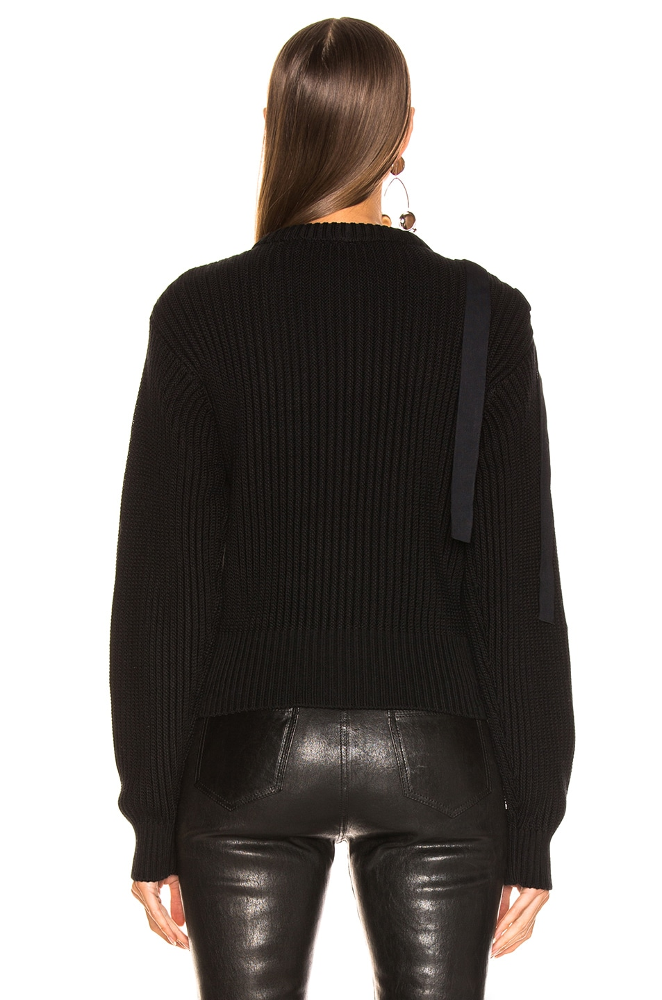 Image 4 of Helmut Lang Shoulder Strap Crewneck in Black